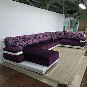Диван П-образный дизайнерский под заказ Элегия-18 (Мебель-Плюс TM)