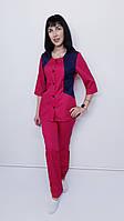 Женский медицинский костюм Лика коттон три четверти рукав, фото 1