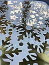 Наклейка золоті Дзеркальні сніжинки (декор окон и стен зеркальные серебрянные снежинки), фото 3