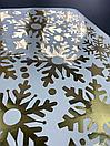 Наклейка золоті Дзеркальні сніжинки (декор окон и стен зеркальные серебрянные снежинки), фото 4