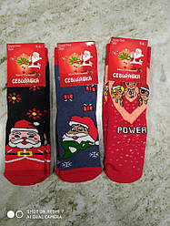 Носки детские махровые  Новый год  3 шт  Турция
