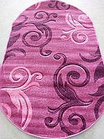 Рельефный ворсовый ковер Legenda 0391 розовый