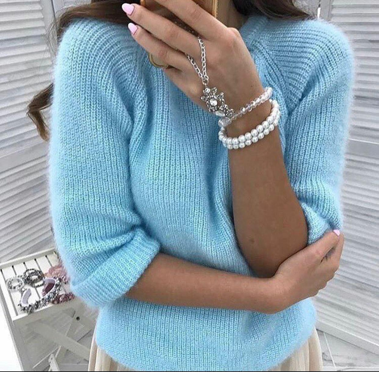 Пушистый женский свитер мягкий на зиму хит 2020 (Норма)