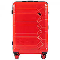 Чемодан поликарбонат Wings PC185 большой (L, 83 л) на 4 сдвоенных колесах Красный (Blood red)