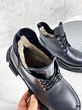 Только 40 р! Женские ботинки ЗИМА черные на шнуровке натуральная кожа, фото 3