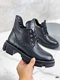 Только 40 р! Женские ботинки ЗИМА черные на шнуровке натуральная кожа, фото 2
