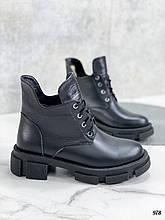 Только 40, 41 р! Женские ботинки ЗИМА черные на шнуровке натуральная кожа