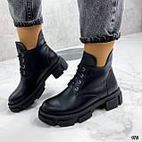 Только 40 р! Женские ботинки ЗИМА черные на шнуровке натуральная кожа, фото 6