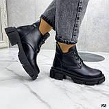 Только 40 р! Женские ботинки ЗИМА черные на шнуровке натуральная кожа, фото 5