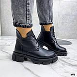 Только 40 р! Женские ботинки ЗИМА черные на шнуровке натуральная кожа, фото 7
