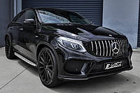 Решетка радиатора Mercedes GLE Coupe C292 стиль AMG GT Panamericana