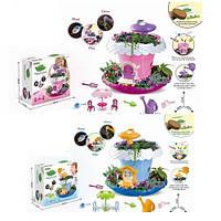 Домик BK1803-04 (18шт) 27см, мебель, огород,садовый инвентарь,2цвета, в кор-ке,28-28-10,5см