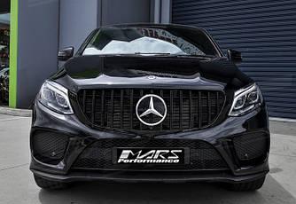 Решітка радіатора Mercedes GLE Coupe C292 тюнінг стиль AMG GT Panamericana (чорна)