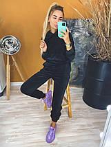 """Женский плюшевый спортивный костюм """"PLUSH"""" с капюшоном и карманами, фото 2"""