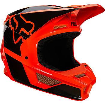 Мотошлем FOX V1 REVN HELMET, ECE Flo Orange XL
