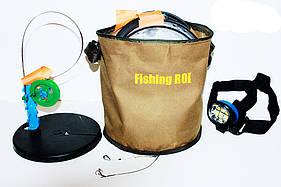 Жерлицы 10 шт. оснащені Fishing ROI + ліхтарик