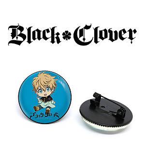 "Значок Черный клевер ""On a blue background"" / Black Clover"