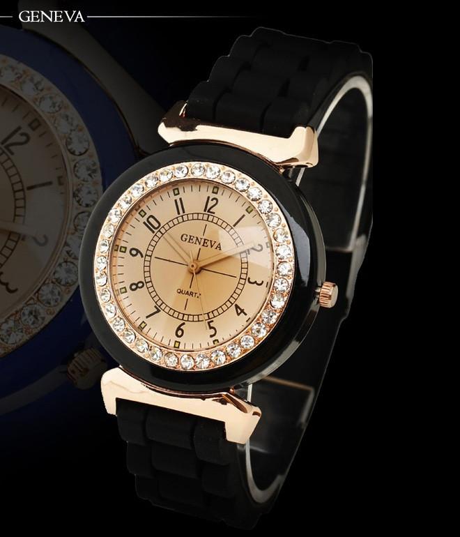 Силіконові жіночі годинники білі Geneva