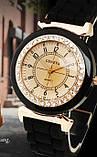 Силіконові жіночі годинники білі Geneva, фото 3