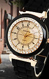 Силиконовые женские часы белые Geneva, фото 3