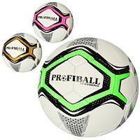 М'яч футбольний 2500-124 (30шт) розмір 5, ПУ1,4мм, ручна робота, 32панели, 400-420 г, 3ол, в кульку,