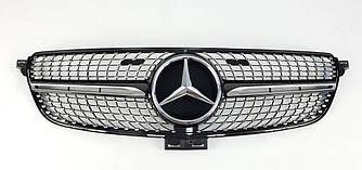 Решетка радиатора Mercedes GLE W166 стиль AMG Diamond (черный глянц)