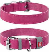 Ошейник кожаный Collar WauDog 0201 XS 19-25см розовый