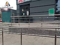 Огорожі з подвійними поручнями для пандусів з нержавіючої сталі AISI 304, фото 1