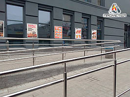 Ограждения/перила для бетонных пандусов из нержавейки AISI 304