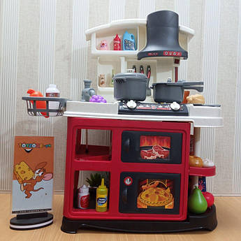 Набор детский игровой интерактивная кухня Spraing Mist Kitchen со звуковыми и световыми эффектами 52 элемента