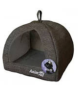 Домик для собак и кошек светло-серый AnimAll Darling M 41 x 41 x 32 см