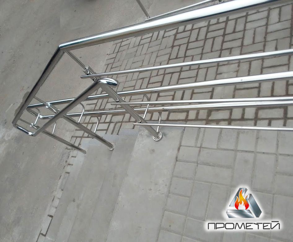 Перила/огорожі для супермаркетів, аптек, ринку з нержавіючої сталі AISI 304