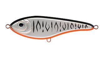 Воблер Джеркбейт Strike Pro Buster V, 85 мм, 17,7 гр, Загл. 0,2м.-1,5м., Тонущий, цвет: A243ES Grey Shadow Mat