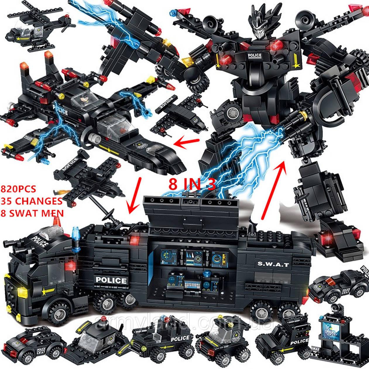Конструктор Полиция SWAT грузовик трансформер (32в1) конструктор
