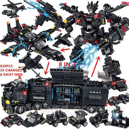 Конструктор Полиция SWAT грузовик трансформер (32в1) конструктор, фото 2