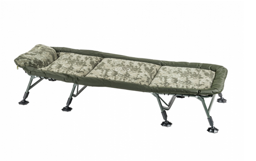 Кровать раскладушка Mivardi карповая рыбацкая CamoCODE Flat8 нагрузка 160кг