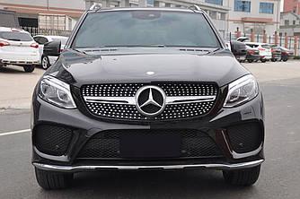 Решетка радиатора Mercedes GLE W166 стиль AMG Diamond (серебро)