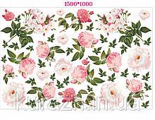 """Вінілова наклейка для декора стіни """"Троянди"""""""