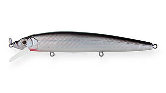 Воблер Минноу Strike Pro Alpha Minnow 115, 115 мм, 12,5 гр, Загл. 0,6м.-1,6м., Плавающий, цвет: A010-EP Black