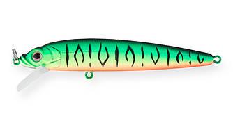 Воблер Минноу Strike Pro Alpha Minnow 95, 95 мм, 9 гр, Загл. 0,6м.-1,6м., Плавающий, цвет: GC01S Mat Tiger,