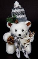 Новогодняя игрушка Медвежонок в шапочке (22*14*10)