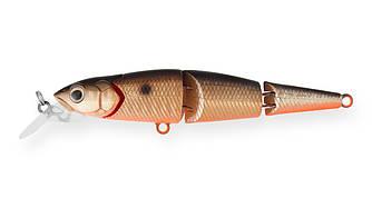Воблер Составной Strike Pro Flying Fish Joint 110, 112 мм, 19,5 гр, Загл. 1,7м.-3,0м., Тонущий, цвет: 613-713