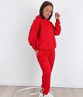 Жіночий стильний спортивний костюм з капюшоном Батал