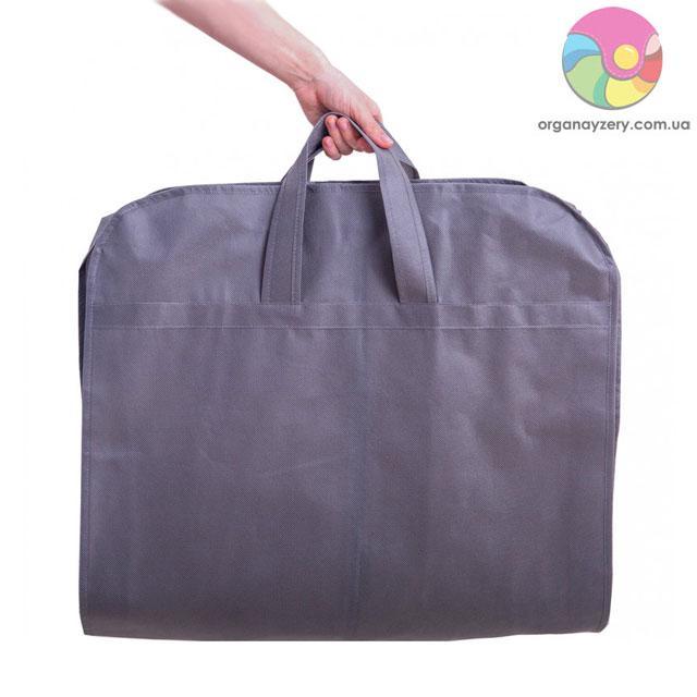 Кофр для одежды с ручками 110*10 см (серый)