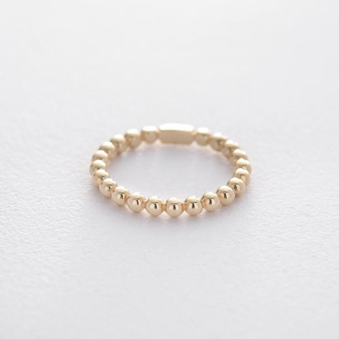 Золотое кольцо с шариками гк06109