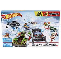 Адвент календарь Машинки Хот Вилс от Hot Wheels (24 фигурки)