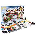 Адвент календарь Машинки Хот Вилс от Hot Wheels (24 фигурки), фото 4