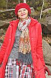 Царський 1159-53, павлопосадский шарф-палантин вовняної з шовковою бахромою, фото 4