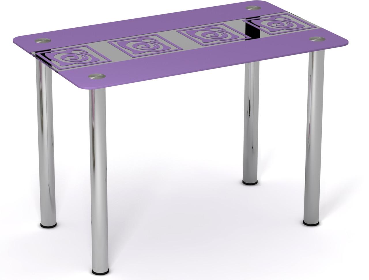 Стол однополочный на хромированных ножках Виолетта ТМ Sentenzo