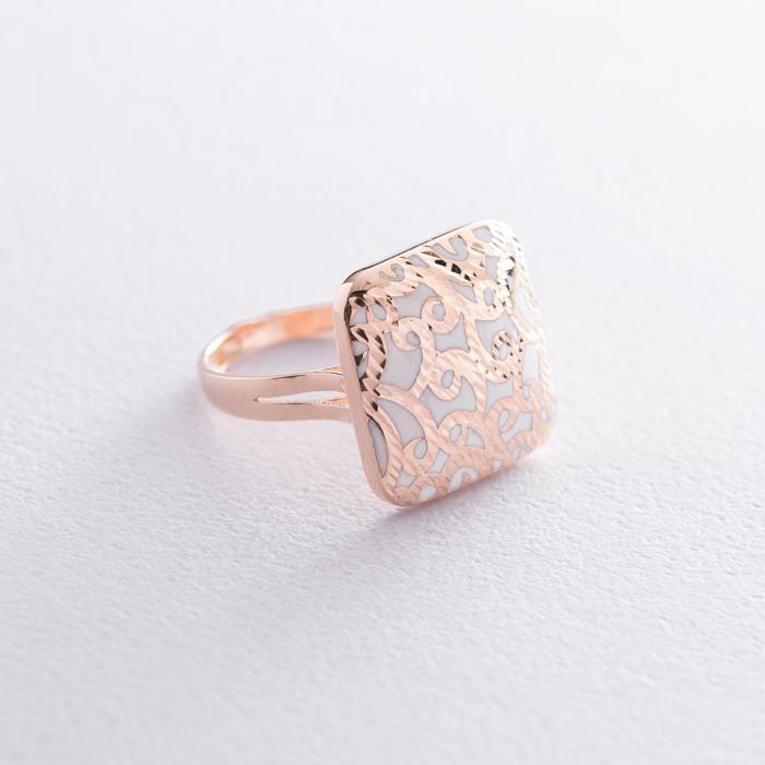 Золотое кольцо с эмалью к05653